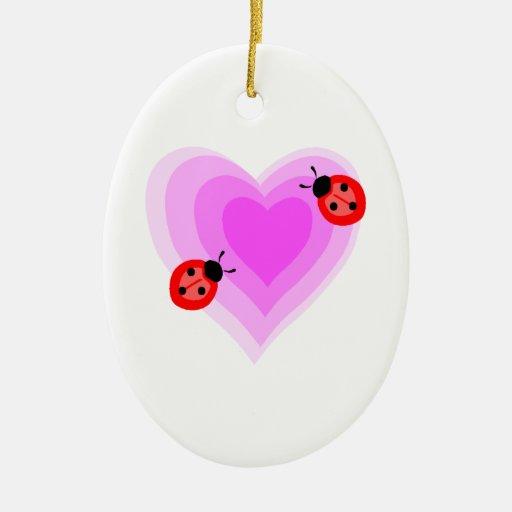 Ladybug Love Christmas Tree Ornament