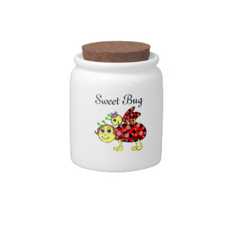 Ladybug Love Customize or add Text Candy Jar