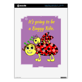 Ladybug Love Customize or add Text Skins For iPad 3
