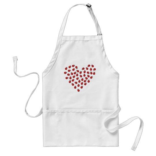 Ladybug Love Heart Adult Apron