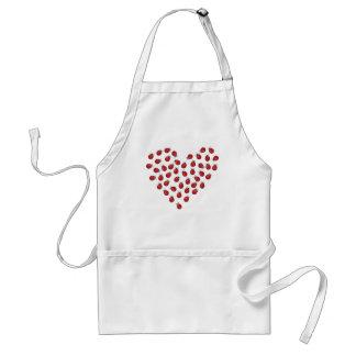 Ladybug Love Heart Apron