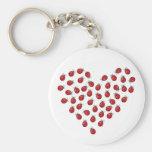 Ladybug Love Heart Key Chains