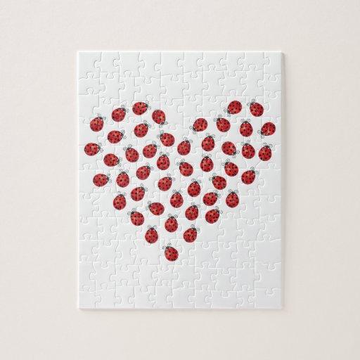 Ladybug Love Heart Puzzles