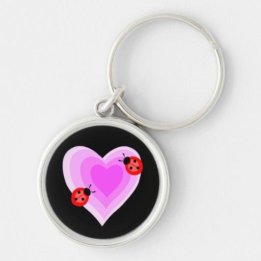 Ladybug Love Keychains