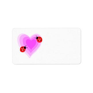 Ladybug Love Label