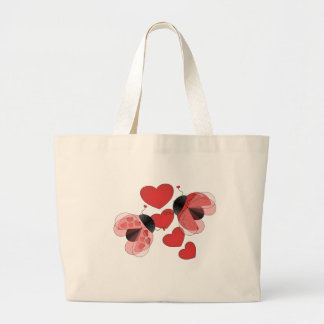 Ladybug Love Large Tote Bag