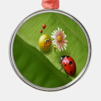 Ladybug Love Metal Ornament