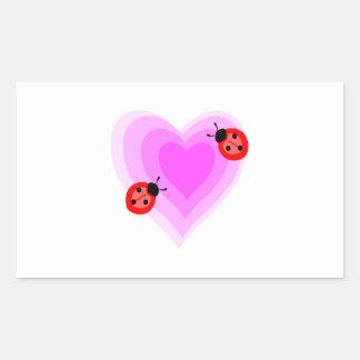 Ladybug Love Rectangular Sticker