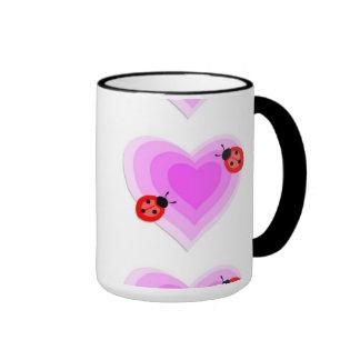 Ladybug Love Ringer Mug