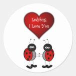 Ladybug Love Sticker/Seal