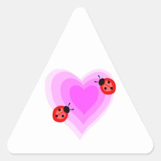 Ladybug Love Triangle Sticker