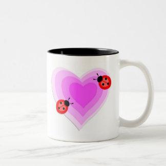 Ladybug Love Two-Tone Coffee Mug