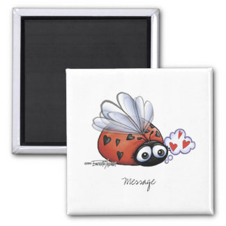 Ladybug lovebug refrigerator magnet