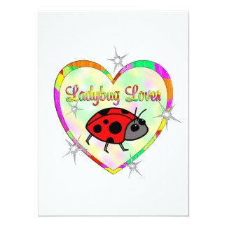 Ladybug Lover 5.5x7.5 Paper Invitation Card