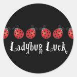 Ladybug Luck Classic Round Sticker