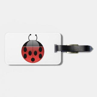 Ladybug Luggage Tag with Leather Strap