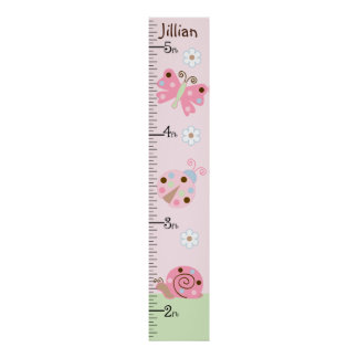 Ladybug Lullaby/Butterfly Growth Chart Poster