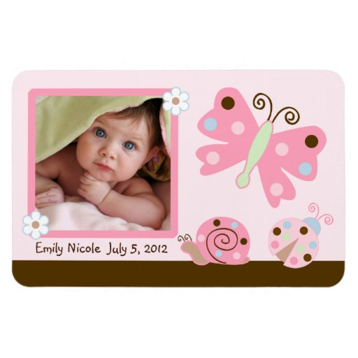 Ladybug Lullaby/Butterfly Photo Magnet Keepsake