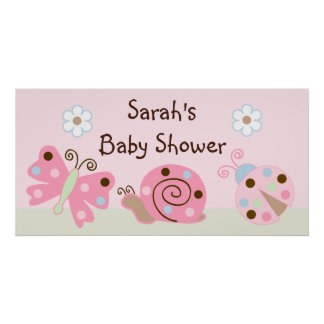 Ladybug Lullaby Butterfly Snail Poster Banner