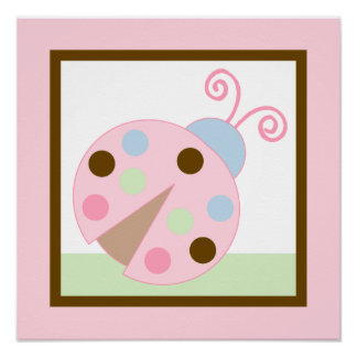 Ladybug Lullaby Girl Poster Wall Art