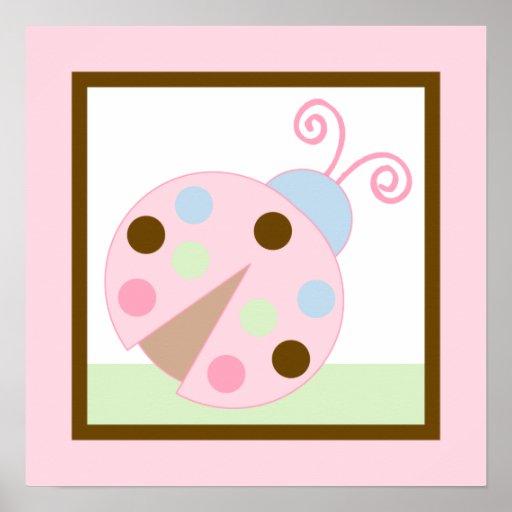 Ladybug Lullaby Girl Poster Wall Art
