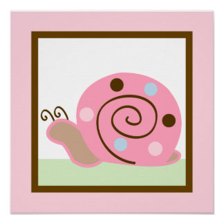 Ladybug Lullaby Snail Girl Poster Wall Art