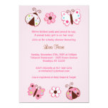 Ladybug Lullabye Baby Shower Invitations