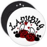 Ladybug Magnet Pinback Button