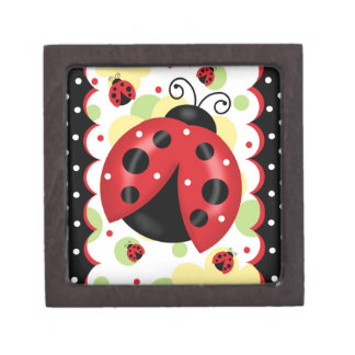 Ladybug Magnetic Wooden Keepsake Box