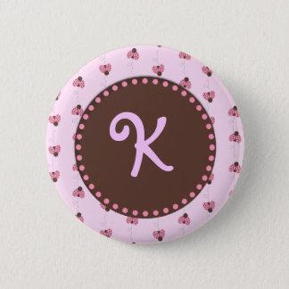 Ladybug Monogram Button Flair