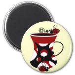Ladybug Mug 2 Inch Round Magnet