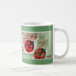 Ladybug Mug (zen haiku series) mug