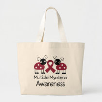 Ladybug Multiple Myeloma Awareness Large Tote Bag
