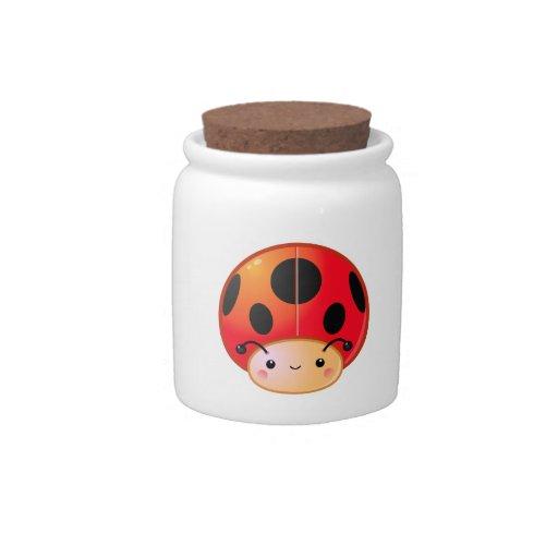 Ladybug Mushroom Candy Jar