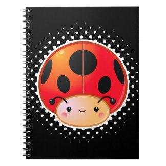 Ladybug Mushroom Notebook