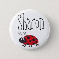 Ladybug Name - Button