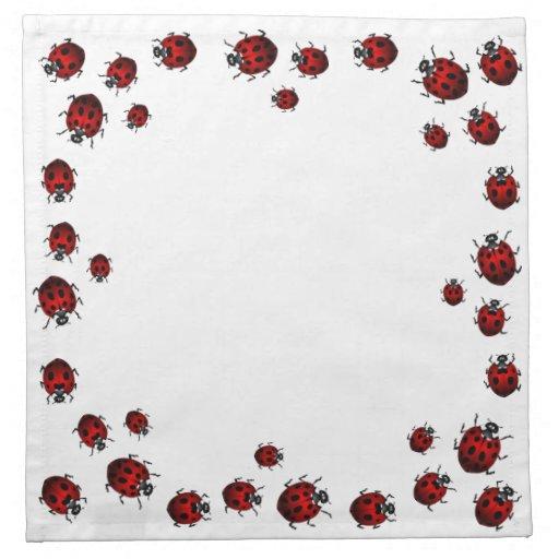 Ladybug Napkins Ladybird Insect Art Decor & Gifts