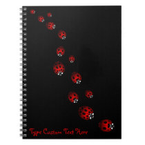 Ladybug Notebook Custom Ladybug Journal Book Gifts