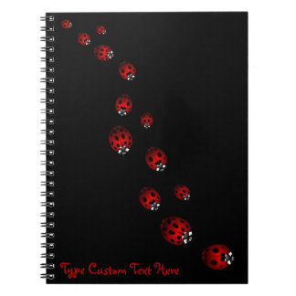 Ladybug Notebook Custom Ladybug Journal Book Gifts