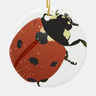 LadyBug Office Home  Personalize Destiny Destiny'S Ceramic Ornament