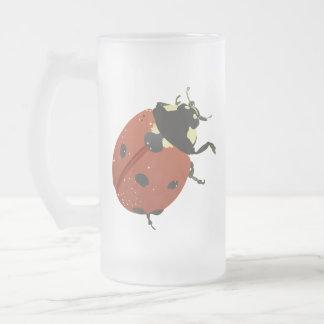 LadyBug Office Home  Personalize Destiny Destiny'S Frosted Glass Beer Mug