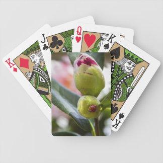 Ladybug on a Camelia Bud Bicycle Playing Cards