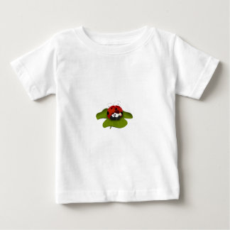 Ladybug on a green leaf baby T-Shirt