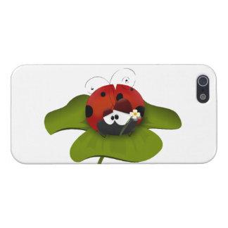 Ladybug on a green leaf case for iPhone SE/5/5s