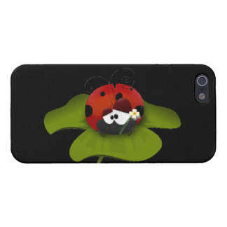 Ladybug on a green leaf cover for iPhone SE/5/5s