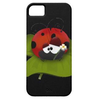 Ladybug on a green leaf iPhone SE/5/5s case