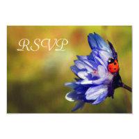 Ladybug on a purple flower RSVP Card (<em>$1.96</em>)