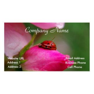 Ladybug on a rose business card