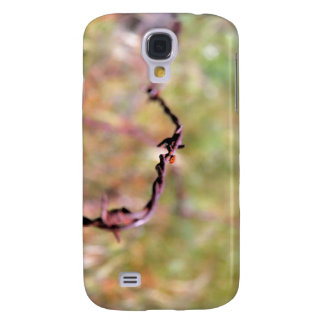 Ladybug on barbed wire. galaxy s4 case