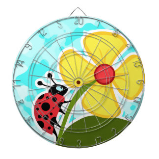Ladybug on Celeste Camo Dartboards